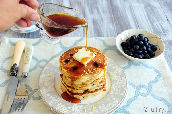Come check out How to Make Blueberry Buttermilk Pancakes with video tutorial.  They are super tender and fluffy.  http://uTry.it