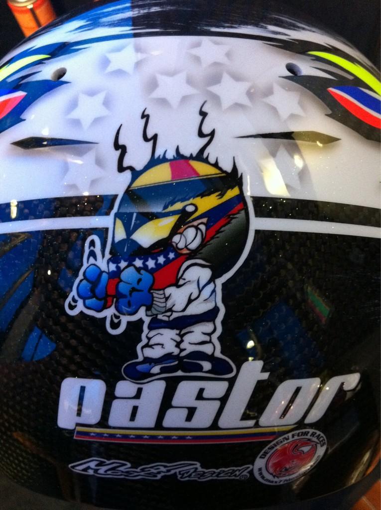 Дизайн шлема Пастора Мальдонадо для Гран-при Сингапура 2011 - вид сзади