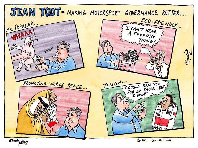 комикс Black Flag о Жане Тодте и его успехах в управлении автоспортом в 2011 году