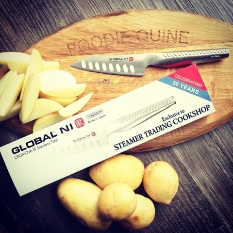 Global Ni Knife, Steamer Trading Cookshop - Foodie Quine Reviews - Foodie Parcels in the Post - June 2015