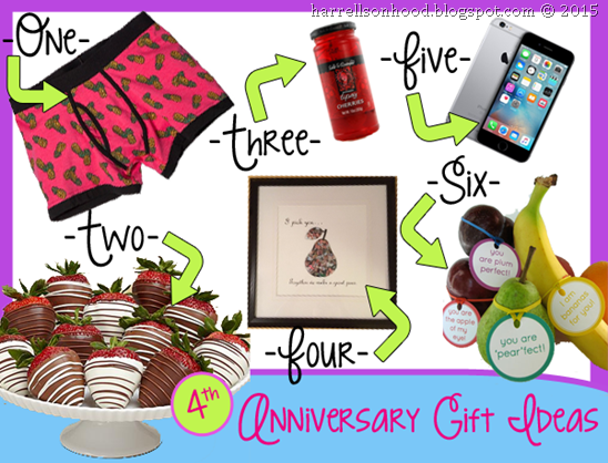 4th anniversary gift ideas