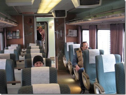 IMG_0690 Amtrak Cascades Talgo Pendular Series VI Business Class Interior at Union Station in Portland, Oregon on May 10, 2008