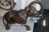 Bronze Elephant Statue, 39x24xH37 1/2
