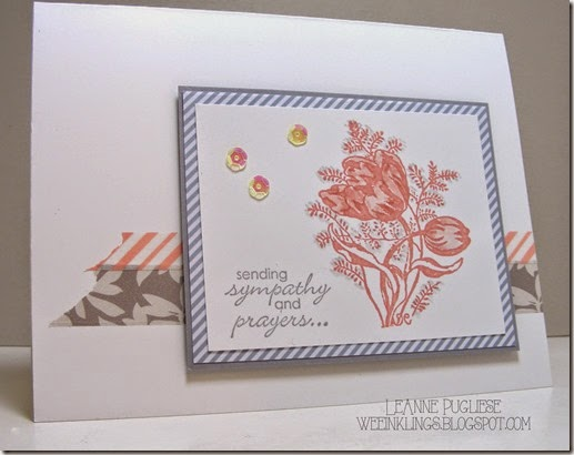 LeAnne Pugliese WeeInklings Artistic Outpost A Lovely Day Petite Pairs Sympathy Stampin UP