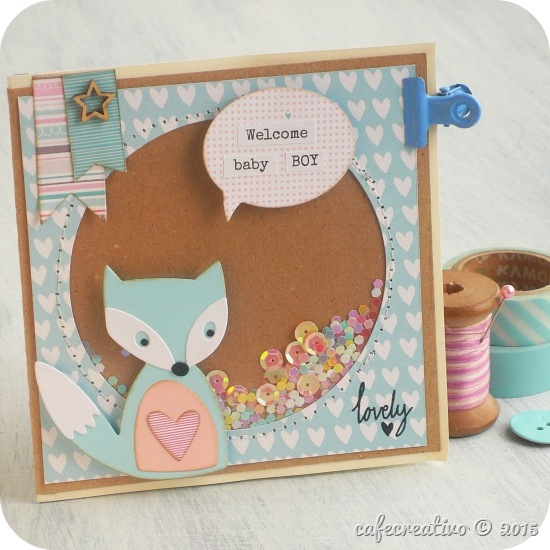 sizzix craft asylum - big shot  - card shaker box - fox - fustelle