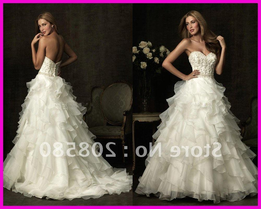 Sexy v-neck beaded appliqued low back ball gown bridal wedding dresses
