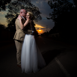 Sunset by Lood Goosen (LWG Photo) - Wedding Bride & Groom ( wedding photography, wedding photographers, wedding day, weddings, wedding, groom and bride, bride and groom, wedding photographer, bride, groom, bride groom )