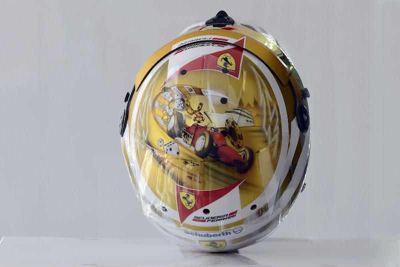 шлем Фернандо Алонсо для Гран-при Монако 2012 - вид сверху