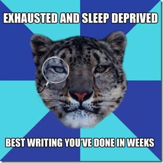Sleep Deprived Writing
