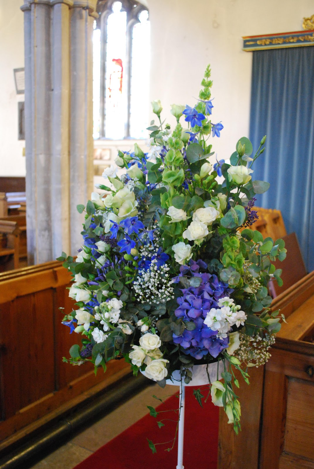blue wedding flower