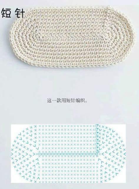 Schemi uncinetto base per borsa a maglia bassa for Schemi borse uncinetto