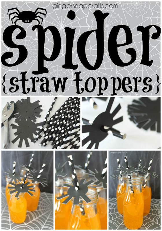 spider straw toppers