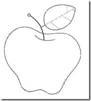 Dibujos manzana para colorear