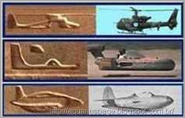 Vimanas-aviões-egito-hierogrifos