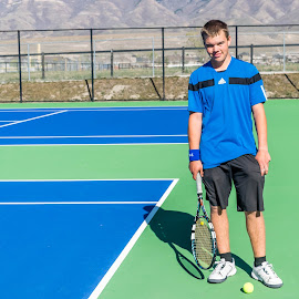 Go Stallions!  by Nicole Mitchell - Sports & Fitness Tennis ( blue, teen, utah, boys, tennis )