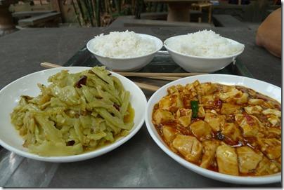 Lunch at Qing Yang Palace 青羊宫