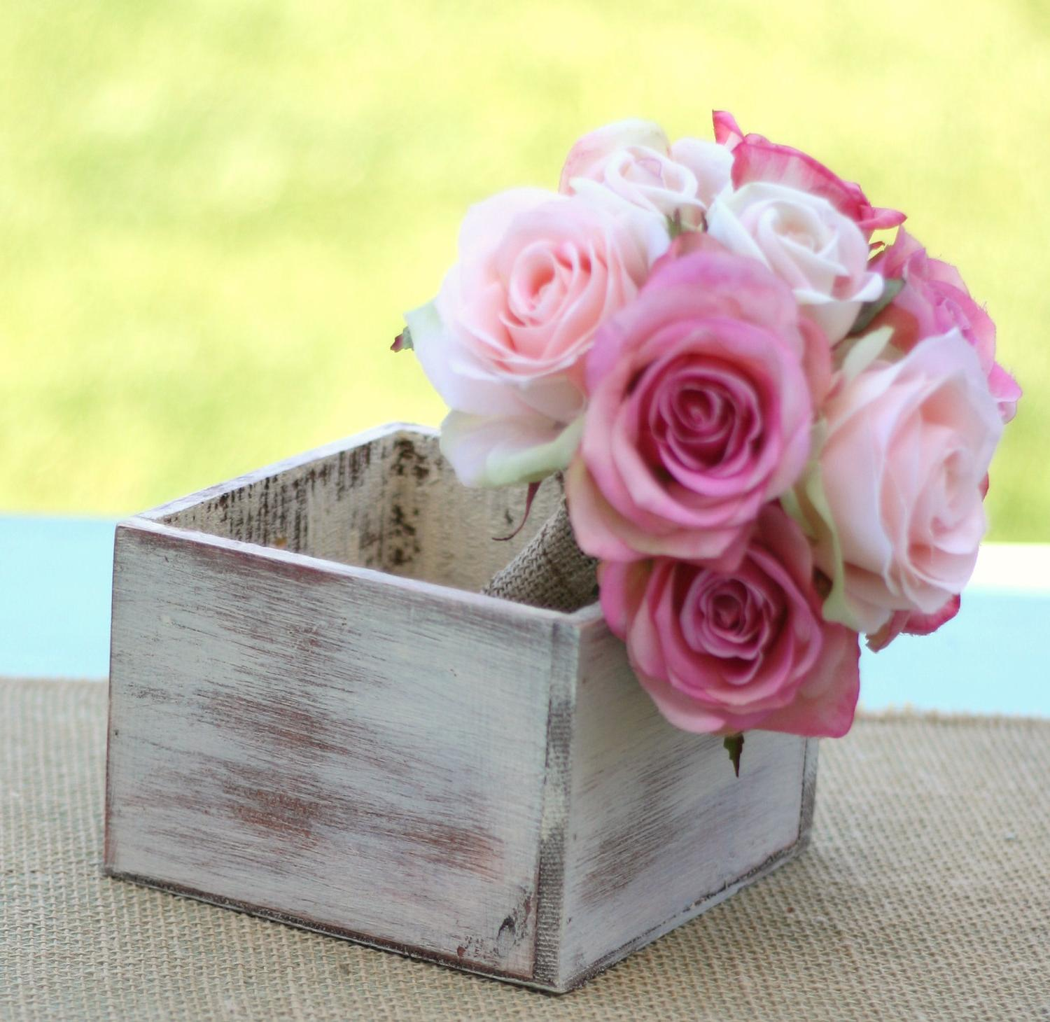 SET OF 6 Wooden Centerpiece