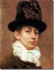 1886 autoportrait, eva bonnier