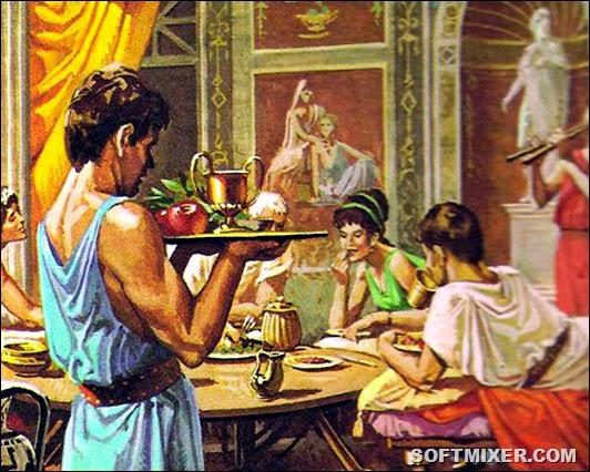 Застольный этикет древних греков