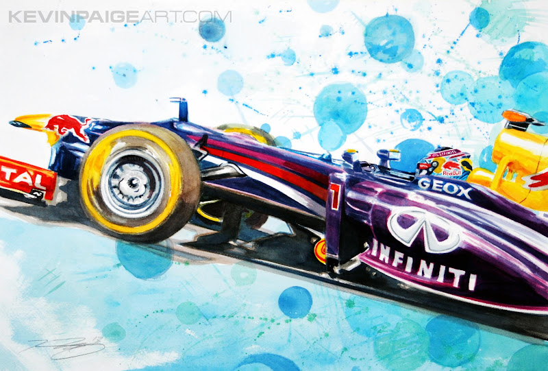 Себастьян Феттель Red Bull RB8 by Kevin Paige Art