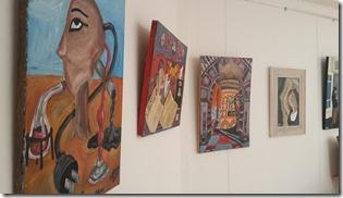 Muestra de arte en la Casa de la Cultura, en Mar del Tuyú