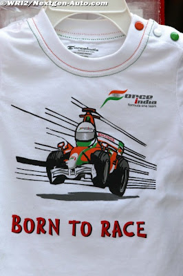 футболка Force India Born To Race на Гран-при Кореи 2011
