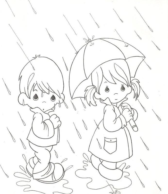 Regen - kostenlos kostbaren Momente Malvorlagen