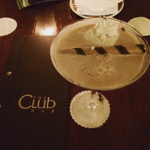 Brandy Alexander cocktail at the Club Bar
