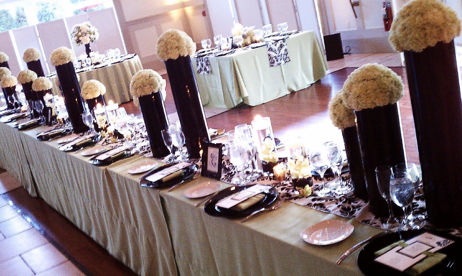 Ornate black mezzo vases