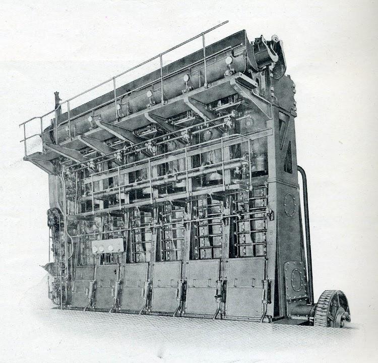 Burmeister & Wain, motor principal de las motonaves de referencia. De la revista The Shipbuilder. Octubre de 1930.jpg