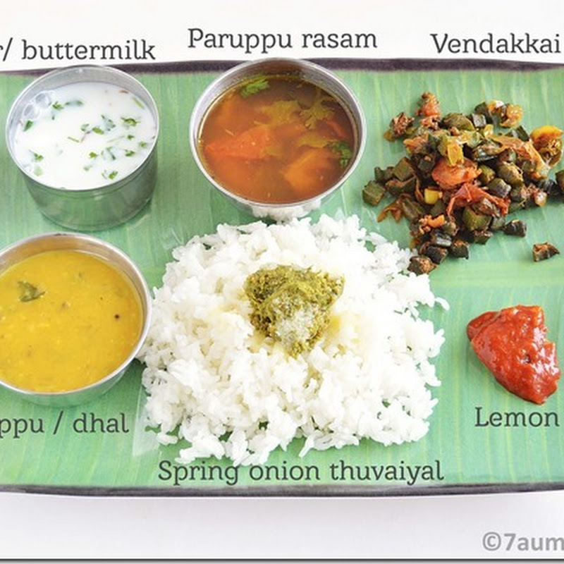 7s menu series-10 (South Indian meal)