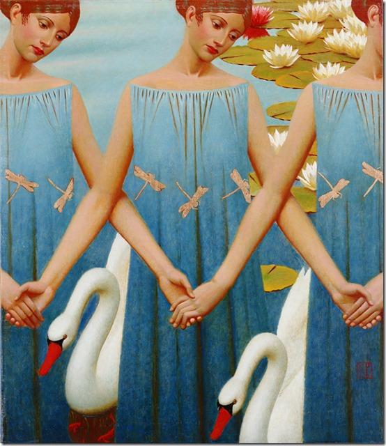 lago de cisnes - Andrey Remnev - ENKAUSTIKOS