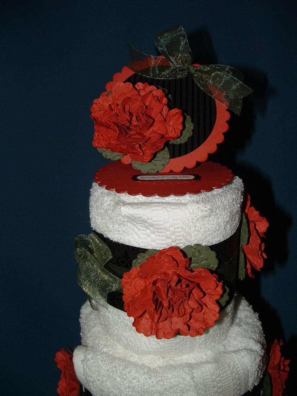 Towel Cake for a Wedding