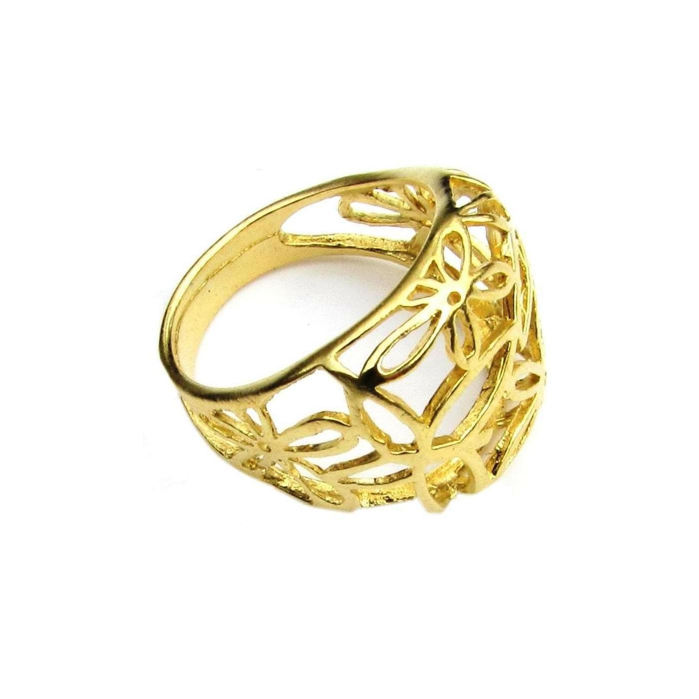 Flower Frame Gold Ring