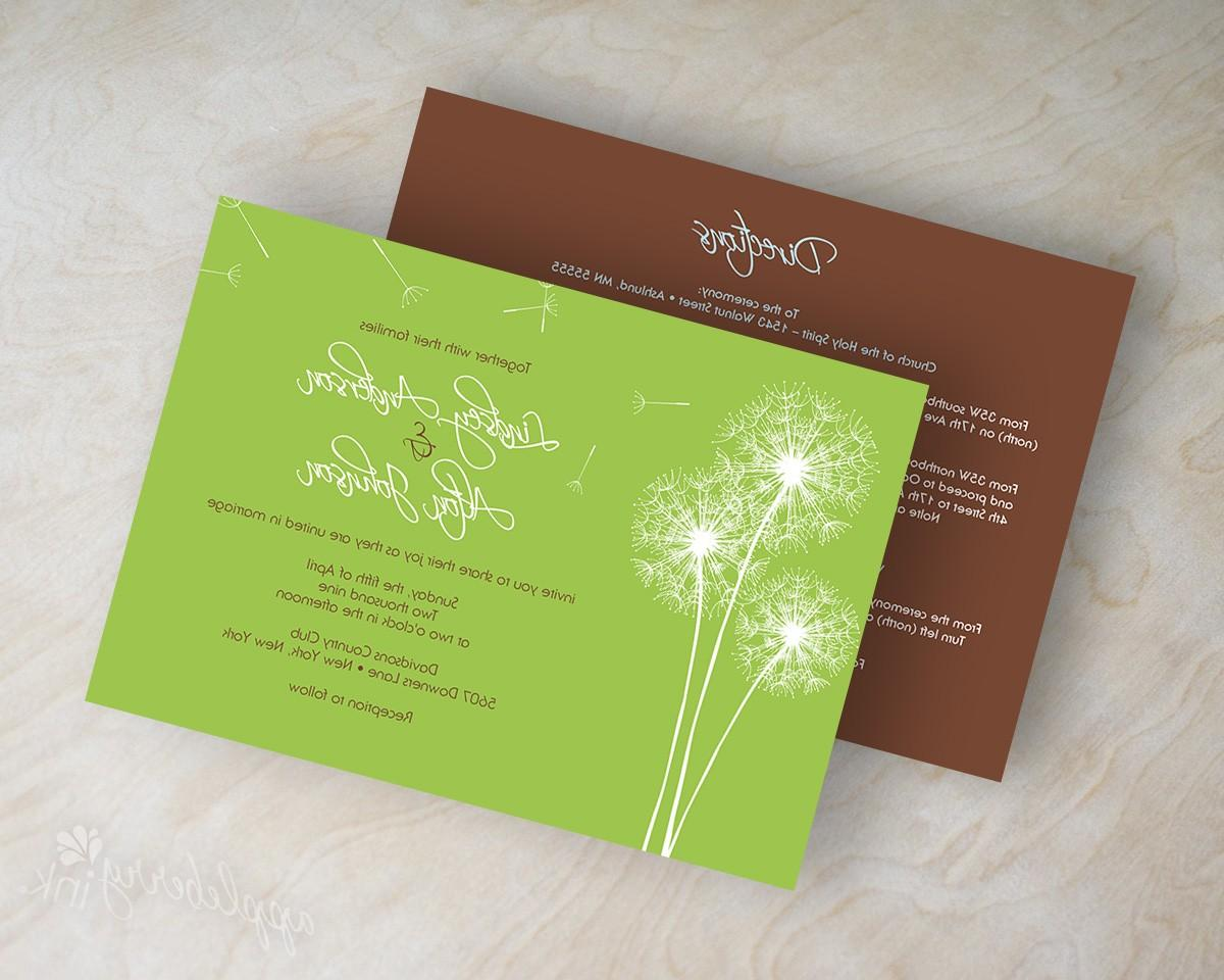 Dandelion silhouette wedding