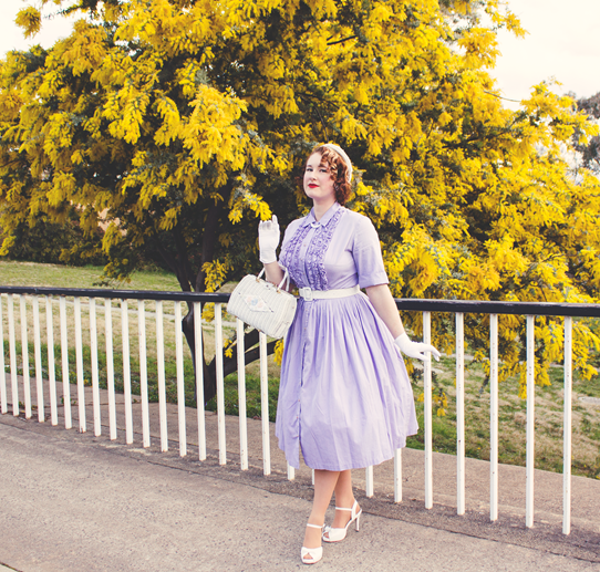 A special 1950's outfit in lavender & white | Lavender & Twill