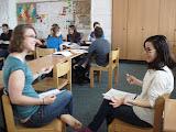Megan und Ryan üben für die mündliche Prüfung