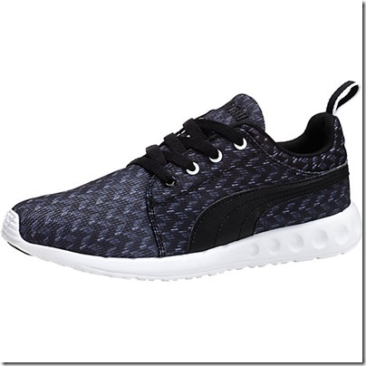 Puma Carson Runner Glitch Women Running Shoes - black-white USD 65.00