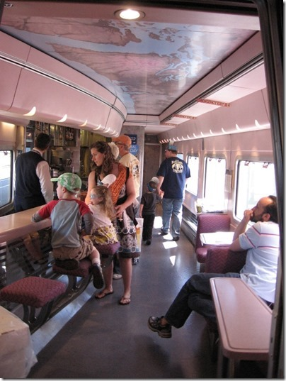 IMG_2793 Amtrak Cascades Talgo Pendular Series VI Bistro Car Interior at Union Station in Portland, Oregon on May 8, 2010