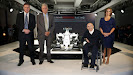 Williams Martini FW36 with Mike O'Driscoll, Pat Symonds, Sir Frank Williams and Claire WIlliams