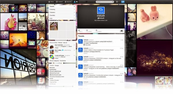 Create Your Own Twitter Instagram Background with Different styles