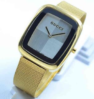 jam tangan Gucci sand gold chain white