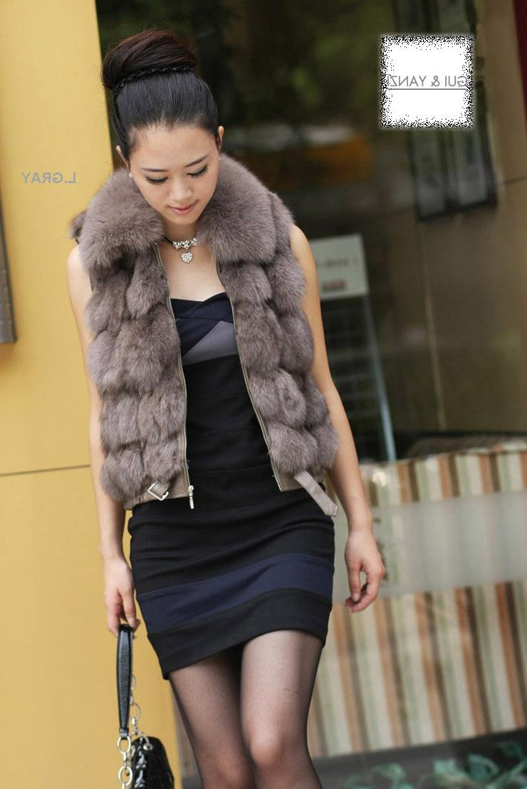 fox fur collar genuine fur