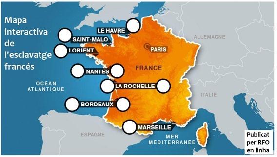 mapa de l'esclavatge francés RFO