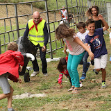 Un parcours aussi pour les enfants, mais avec le carreton