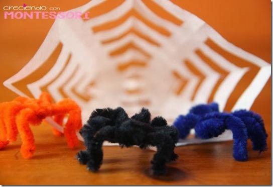 tela de araña halloween niños