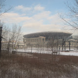 Soldier Field from the Amtrak window 01142012a