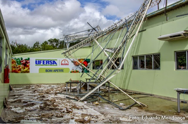 Mossoró: Ufersa faz levantamento sobre estragos do redemoinho que destruiu restaurante universitário