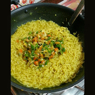 Maggi with Stir Fried Veggies