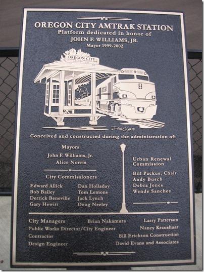 IMG_9079 Oregon City Amtrak Station Plaque on September 17, 2007